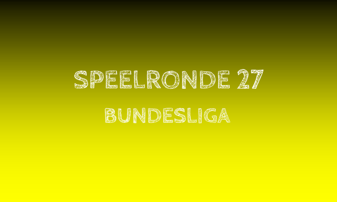 Samenvatting: de 27ste speelronde in de Bundesliga