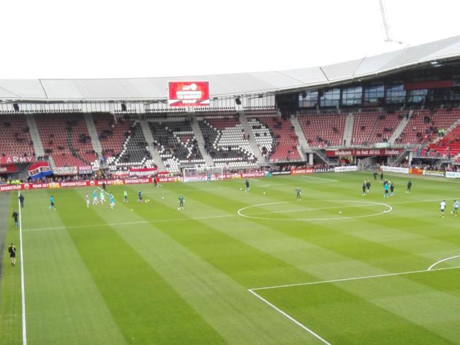 Harde kern van AZ boycot wedstrijd tegen NAC als protest tegen stadionverboden