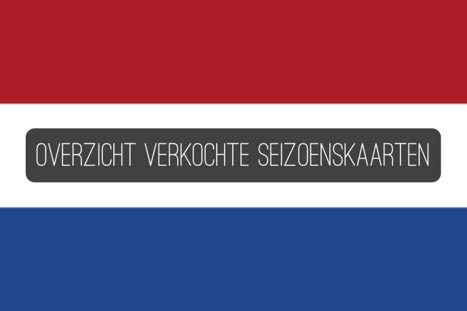 UPDATE AUGUSTUS: Overzicht verkochte seizoenkaarten Eredivisie en Jupiler League