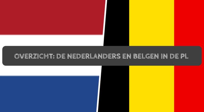 Overzicht: de Nederlanders en Belgen in de Premier League